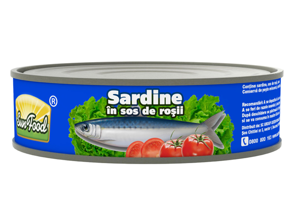Sardine in sos de rosii 215g Sun Food