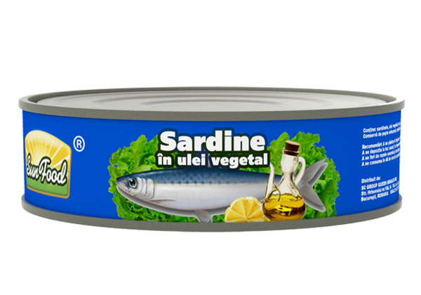 Sardine in ulei vegetal 215g Sun Food